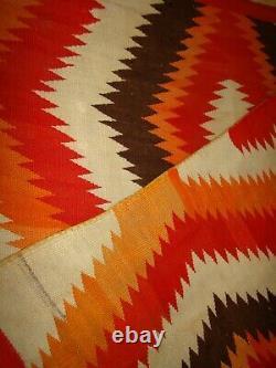 Antique Navajo Blanket Native American classic eye dazzler Weaving rug