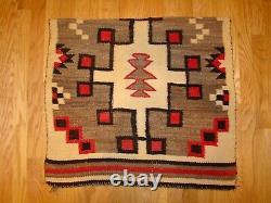 Antique Navajo Child/Saddle Blanket Native American Weaving Rug