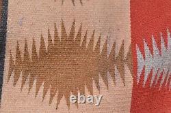 Antique Navajo Eye Dazzler RUG 54x38 Vintage Native American weaving Textile
