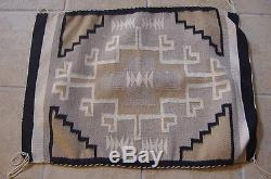 Antique Navajo Indian Rug Weaving 30 By 22 Native American