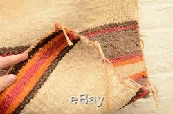 Antique Navajo Native American Indian Rug Handmade Saddle Blanket Vtg Stripe