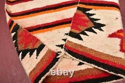 Antique Navajo Pictorial Double Saddle Blanket Arrows Native American Rug 60