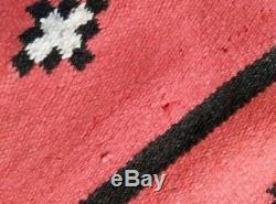 Antique Navajo Rug Bayeta Blanket Native American Indian Weaving 59x23 1880