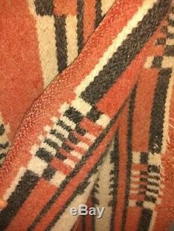 Antique Navajo Rug Blanket Manta Native American Indian Weaving 61x26 1890