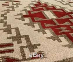 Antique Navajo Rug Blanket Native American Indian Klagatoh Weaving Tapestry