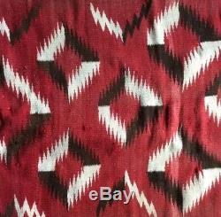 Antique Navajo Rug Blanket Native American Indian Weaving 56x34