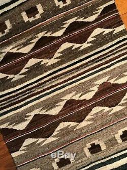 Antique Navajo Rug Child's Blanket Native American Indian Transitional Weaving