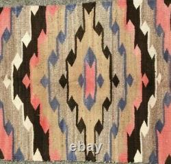 Antique Navajo Rug Childs Blanket Native American Indian Weaving Textile