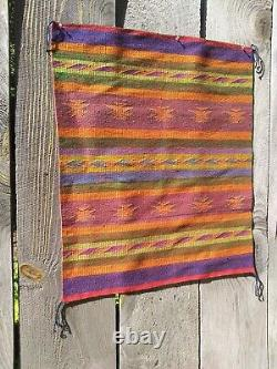 Antique Navajo Rug Double Two Faced Blanket Weaving Native American Indian 1920