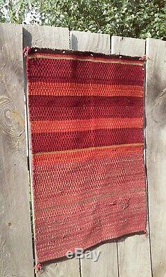 Antique Navajo Rug Germantown Saddle Blanket Native American Indian Weaving