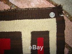 Antique Navajo Rug Large Native American Storm Variant Weaving