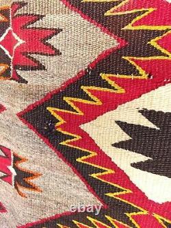 Antique Navajo Rug Red Mesa Teec Noc Pos Native American Fine Weaving 1911