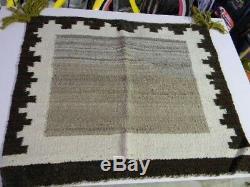 Antique Navajo Rug Saddle Blanket Native American Indian Open Field Weaving 1900