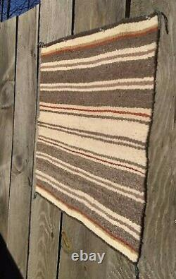 Antique Navajo Rug Saddle Blanket Native American Indian Weaving 1934