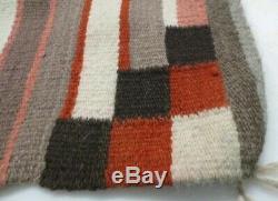 Antique Navajo Rug Saddle Blanket Native American Indian Zephyr Yarn Weaving