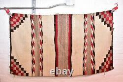 Antique Navajo Rug Transitional Saddle Blanket Native American Indian Weaving