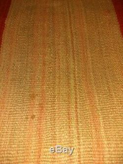 Antique Navajo Rug Zuni Blanket Native American Indian Weaving Textile 1890
