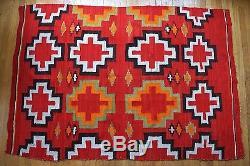 Antique Navajo Southwest Native American Indian Transitional Blanket Rug