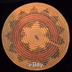 Antique Navajo Wedding Basket, c. 1930, 12.625 x 2.375
