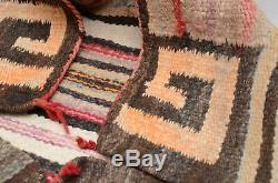 Antique Navajo native american Indian Saddle Blanket Crystal Rug CORNERS Textile