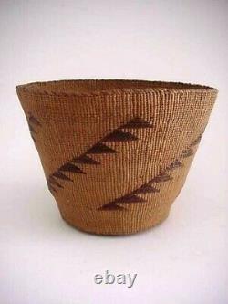 Antique Northwest Coast Haida Indian Basket Native American Weaving