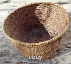 Antique Northwest Coast Makah Native American Imbricated Basket
