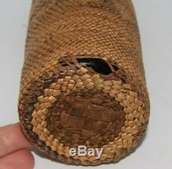Antique Northwest Coast Makah Nootka Indian Bottle Basket Native American