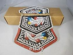 Antique Old (native American Iroquois Indian) Two Sided Beaded Bag Pouch