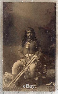 Antique Photo of Apache Native American Indian by A. Frank Randall