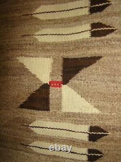 Antique Pictorial Navajo Rug Native American Weaving Stars Feather Whirling Log