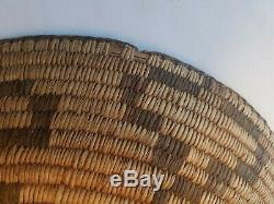Antique Pima Basket Tray Southwest Native American Indian 12 3/4 Dia