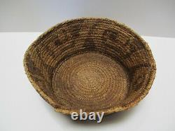 Antique Pima Papago Basket Tribal Native American Indian Art Sculpture 9 Inch