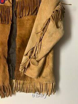 Antique Plains Indian Native American Child Size Leather Hide Beaded Jacket