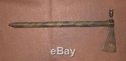 Antique Plains Indian Pipe Tomahawk Forged Head Sacred Buffalo Ash Haft 1850