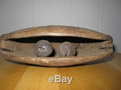 Antique Primitive Folk Art Wood Carving Possibly Native American Artifact Decor