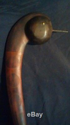 Antique Primitive Large Native American Indian Wooden Ball Headed War Club