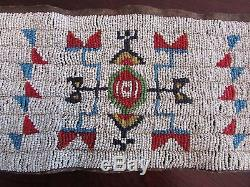 Antique Sioux Beaded Cuffs (pipe bag, strike a lite, catlinite, Plains Indian)