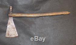 Antique Sioux Indian Scout Pipe Tomahawk US Army 1873 Etched Blade Forged Head