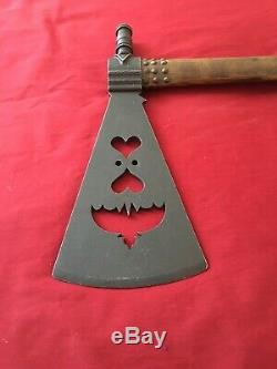 Antique Sioux Native American Pipe Tomahawk Bat Wing Cutout