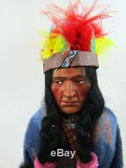 Antique Skookum Bully Good Indian Chief Doll withHead Pc Sticker 1949 1 Owner 13