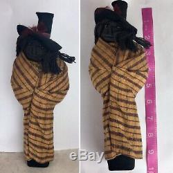 Antique Skookum Indian Doll Apple Head 1910s Rare
