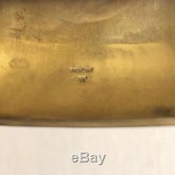 Antique Sterling Silver Hand Carved Cuff Bracelet Hopi Sun Kachina