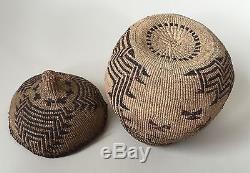 Antique Twined Klamath Modoc Native American Indian Basket Oregon N California