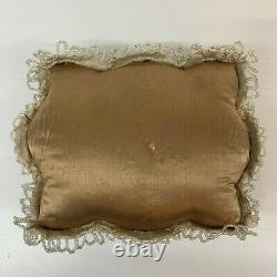 Antique Victorian Velvet Beaded Pin Cushion Pillow bird Native American Indian