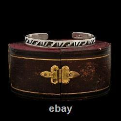 Antique Vintage 925 Sterling Silver Native Hopi Style TAXCO Cuff Bracelet 12.5g