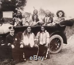 Antique Vintage Black & White Photograph Picture Native American Indians Police
