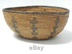 Antique / Vintage California Paiute Indian Funery Pole Basket Rare To Find