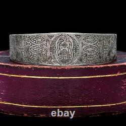 Antique Vintage Coin Sterling Silver Northwest Native American Cuff Bracelet