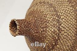 Antique/Vintage NATIVE AMERICAN INDIAN SEED BASKET! Amazing Shape withWoven Design