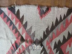 Antique Vintage Native American Indian Rug Blanket 62 By 48 Inches Navajo Art